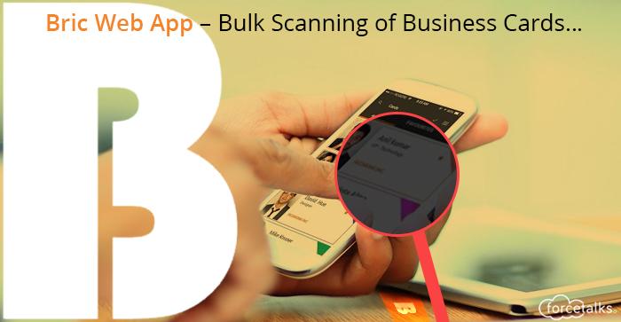 Bulk Scanning of Business Cards