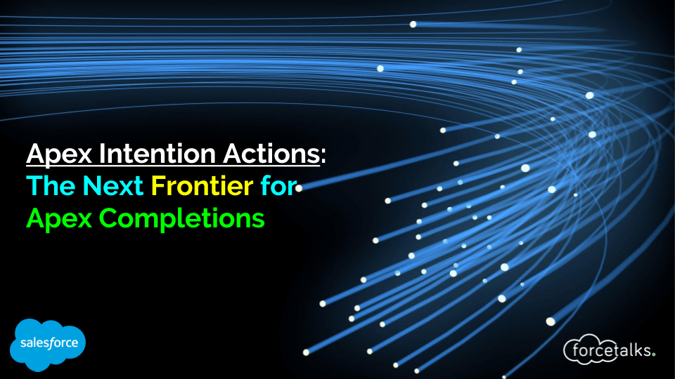Apex Intention Actions-%0AThe Next Frontier for%0AApex Completions%0A