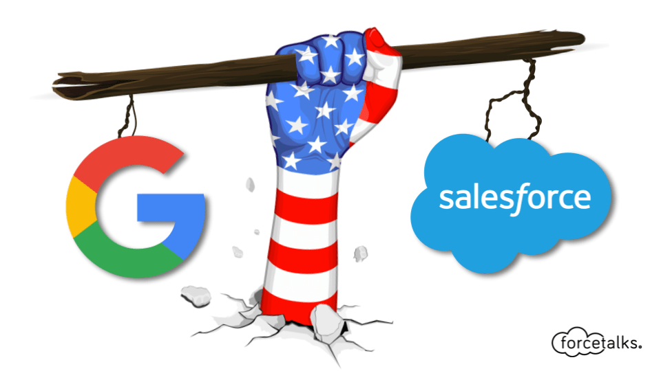Google Teams Up With Salesforce to Push Cloud Computing Business