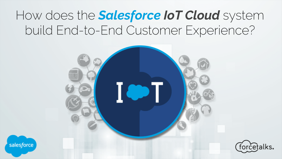 How does the Salesforce IoT Cloud system build End-to-End Customer Experience?