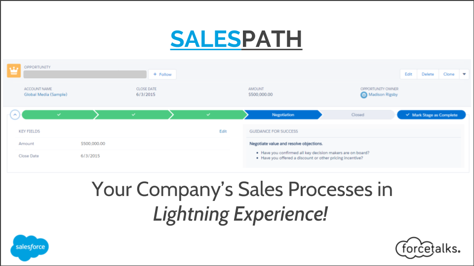 SALES PATH-Your Company's Sales Processes in Lightning Experience