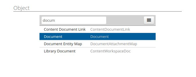 select doc object DL