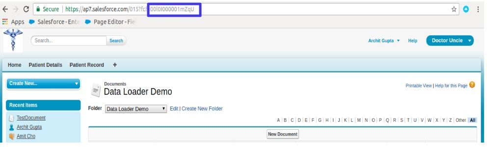 Document Folder URL