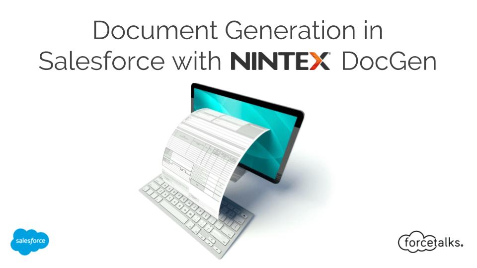 Document Generation in Salesforce with nintex DocGen
