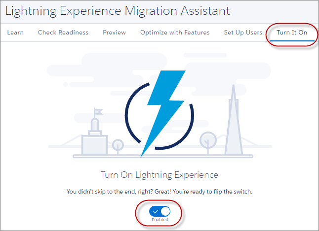 Lightning Exeperience Migration Assistant