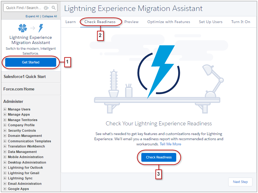 Lightning Experience Migration Assistant