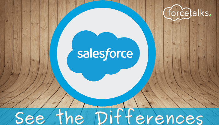 Differences in Salesforce