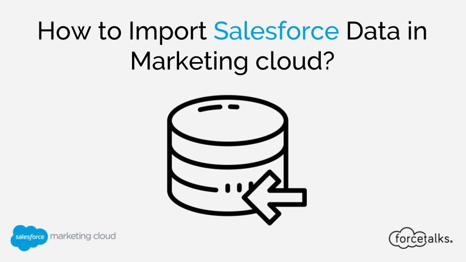 How to Import Salesforce Data in Marketing cloud?