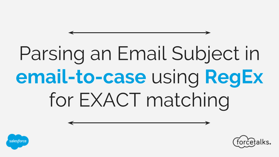 Parsing an Email Subject in email-to-case using RegEx for EXACT matching
