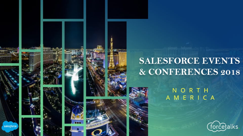 Salesforce events & conferences for fall/winter 2018 - North America