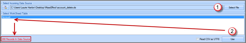 Select Incoming Data Source