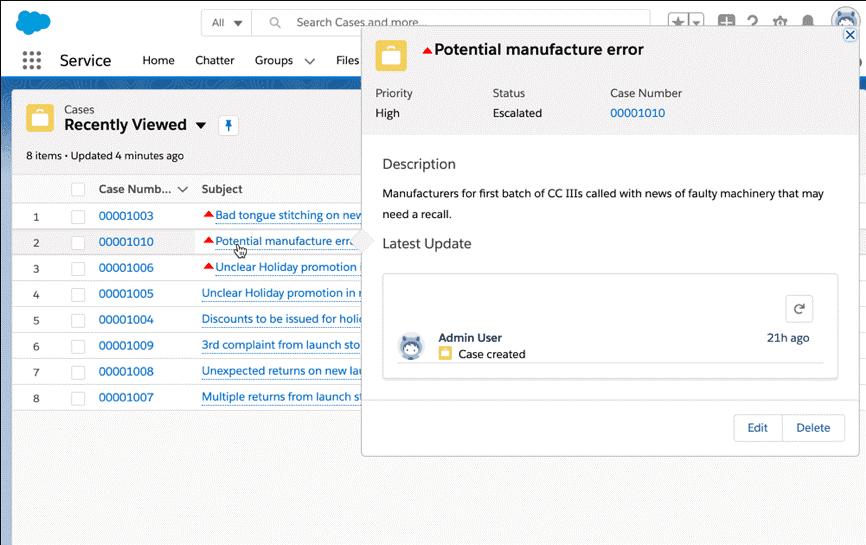 Potential Manufacture Error