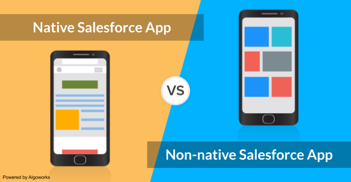native vsnon-native salesforce apps