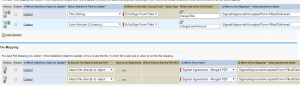 Open Data Mappings tab in Salesforce
