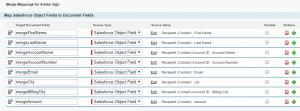 Merge Mappings tab in Salesforce
