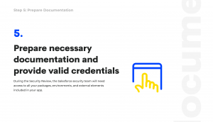 prepare documentation for salesforce security review