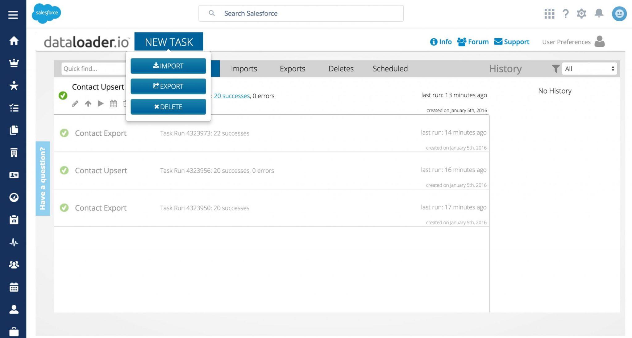 Salesforce data loader app
