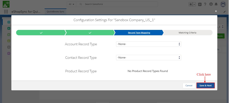 Record type settings