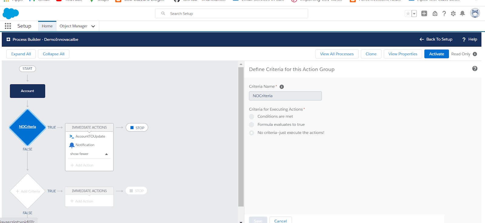 Custom Notification With Process Builder in Salesforce