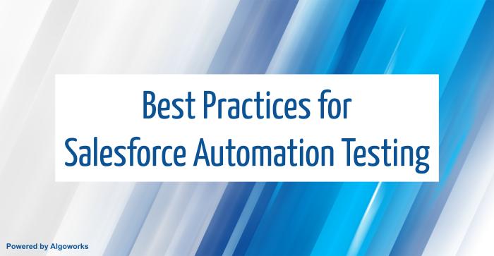 salesforce automation testing