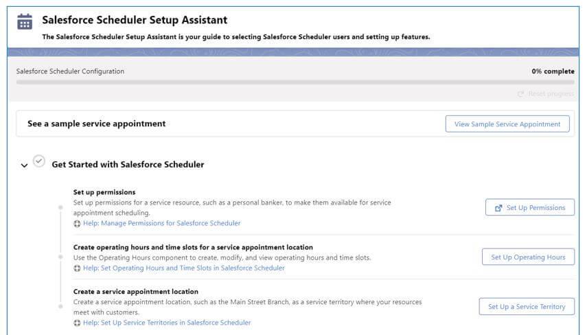 salesforce scheduler
