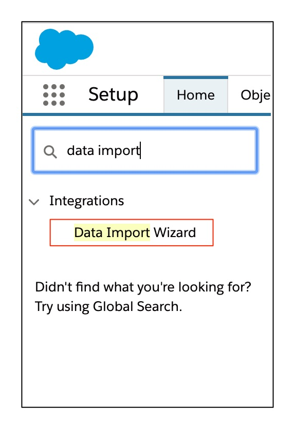 Data Import Wizard