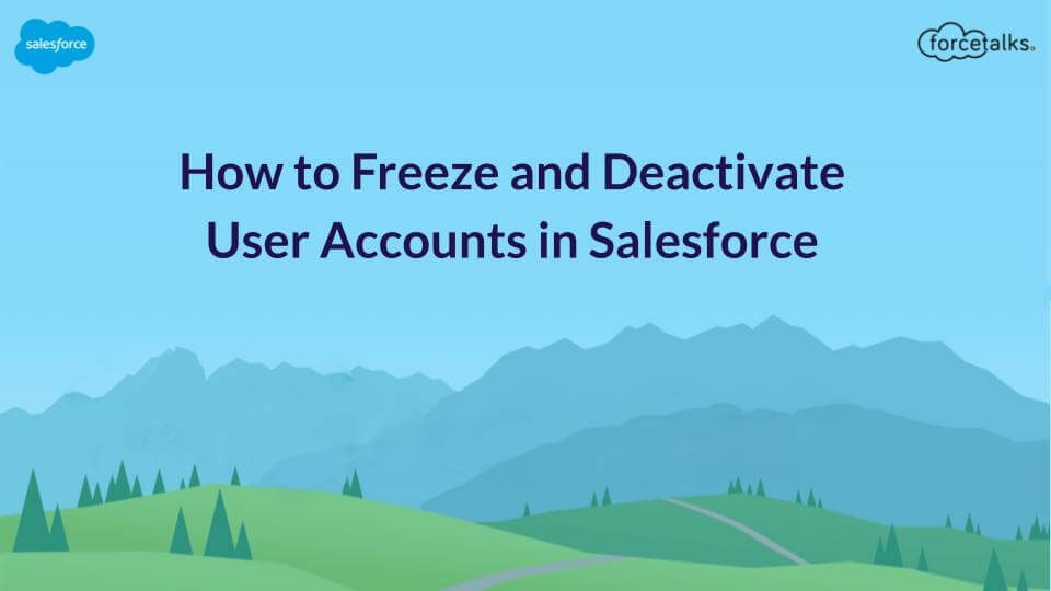 Freeze and Deactivate User Accounts in Salesforce